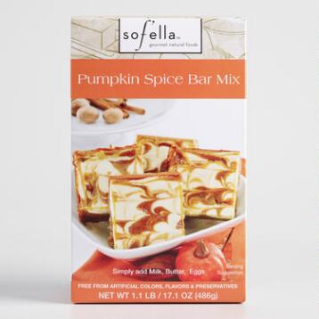 Sof'ella Pumpkin Spice Cheesecake Bar Mix Set of 2